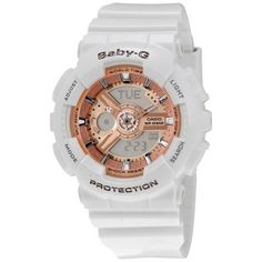 CASIO Baby G White Resin Ladies Watch