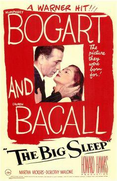 Humphrey Bogart Lauren Bacall in The Big Sleep