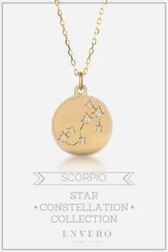 Scorpio Constellation Necklace – Envero Jewelry