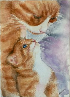 Sculpture Projects, Art Projects, I Love You Mama, Jazz Cat, Original Paintings, Cat Paintings, Cat Clipart, Cats And Kittens, Kitty Cats