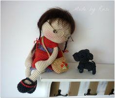 Muñeca amigurumi Crochet - Leah por Rusi muñecas