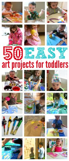 List of easy art projects for toddlers from No Time For Flash Cards.