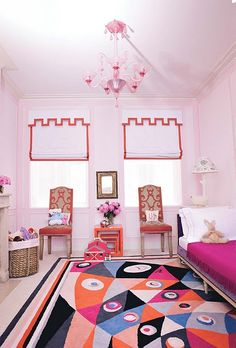 Bright and happy girl bedroom.