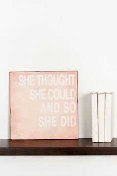Decor for the single girl - She Thought She Could Medium Wall Art