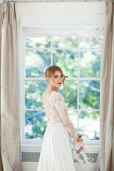 Elegant sheer lace wedding dress: http://www.stylemepretty.com/2016/02/03/bridal-trend-sexy-wedding-dress/