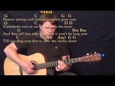 The circle game joni mitchell strum guitar cover lesson with chords