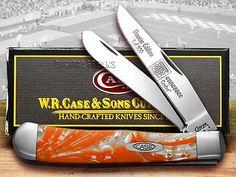 CASE XX Tennessee Orange Corelon 1/500 Trapper Knives