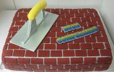 Brick Layer Birthday Cake on Cake Central 80th Birthday, Boy Birthday Parties, Pastel Mickey, Dad Cake, Doughnut Cake, Birthday Cake Decorating, Cake Images, Occasion Cakes, Themed Cakes