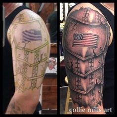 Spanish Armor Tattoo