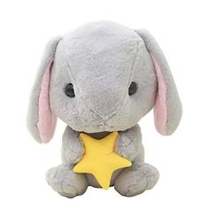 TOLLION Cuddly Big Soft Deals Toys 16 Gray Ocean Starfish Bunny Rabbits Toys Stuffed Animal Cushion Plush Doll Toys Christmas Gift Easter Bunny * To view further for this item, visit the image link.