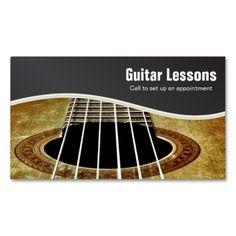 Acoustic guitar business card pinterest acoustic guitar guitar lessons and music instructors business card colourmoves