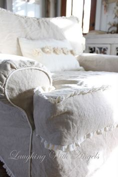 slipcover with ruffles...love!!!
