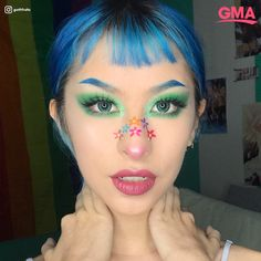 Looking for for ideas for your Halloween make-up? Browse around this site for unique Halloween makeup looks. Makeup Clown, Eye Makeup, Hair Makeup, Lolita Makeup, Prom Makeup, Drugstore Makeup, Eyeshadow Makeup, Wedding Makeup, Unique Halloween Makeup