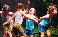 Such fun is watching our children enjoy the simple pleasures of life.like rain!