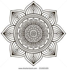 Mandala. Round Ornament Pattern. Vintage Decorative Elements. Hand Drawn…