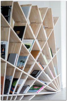 94 Amazing Bookshelf Design Ideas - Essential Furniture In Your Home Freestanding Double Sided Poplar Bookcase Manufacturer Diy Bookshelf Design, Creative Bookshelves, Corner Bookshelves, Shelving Design, Bookshelf Styling, Painted Bookshelves, Bookshelf Ideas, Modular Shelving, Bookcase White