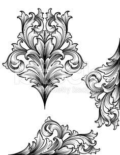 Acanthus Edge scrollwork royalty-free stock vector art