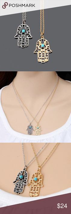 Hamsa Fatima Necklace  Hamsa Fatima Necklace  45 cm long-- bundle with other items for additional discounts! Jewelry Necklaces