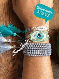 Beaded Jewelry, Handmade Jewelry, Beaded Bracelets, Beaded Crafts, Evil Eye Bracelet, Hamsa, Beadwork, Eyelashes, Jewerly