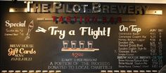 The Pilot Brewery Tasting Bar Menu Honey Brown, Bar Menu, Tap Room, Dundee, Ipa, Brewery, Pilot, Neon Signs, Pilots