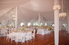 who's getting married in a tent? this is lovely.