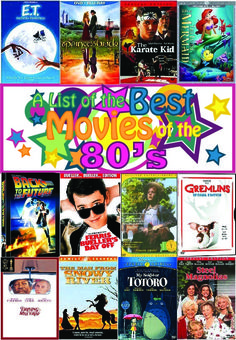 A Gnarly List of the Best 80′s Movies - MommyBearMedia.com #movies