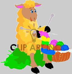 farm animals animal clipart sheep sheeps yarn knitting knit crafts farmanim015yy clip art animals farm