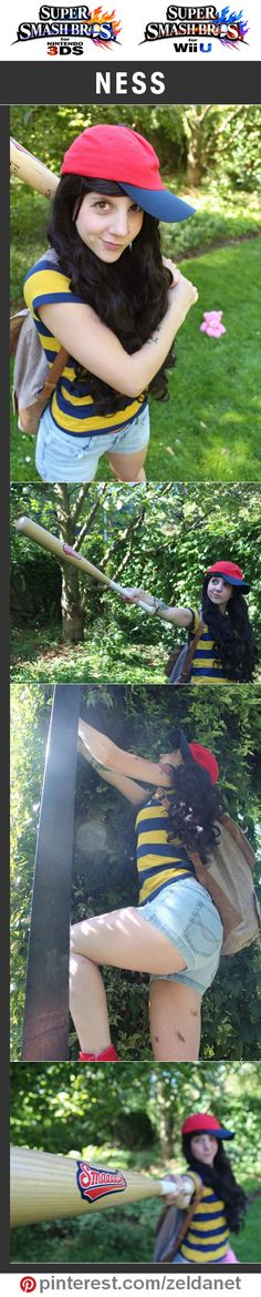 Ness by @mnemosynekurai in Super Smash Bros cosplay series | @nintendo #3DS #WiiU Credits in original post at http://www.pinterest.com/zeldanet/super-smash-bros-cosplay-series/