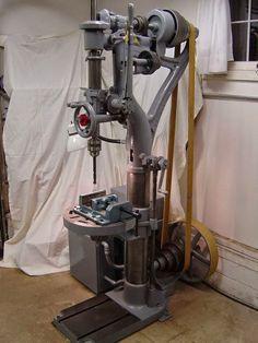 Antique Tools, Old Tools, Machine Tools, Lathe Machine, Metal Workshop, Drilling Machine, Drill Press, Woodworking Machinery, Industrial Revolution