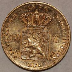 10 Gulden Willem III 1875 Utrecht