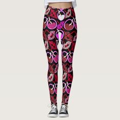 Hugs Kisses X's and O's Valentine Pattern Leggings - valentines day gifts diy couples special day