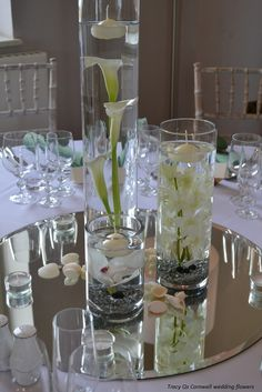 Underwater arrangement.  Simple and elegant.  No candle needed.