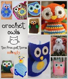 Moogly: Can't get enough of these free crochet owl patterns! Roundups on Moogly!
