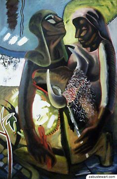 "Zabu Stewart - ""Hope"" (cell phone photo) (Oil and Acrylic - 24"" x 36"")"