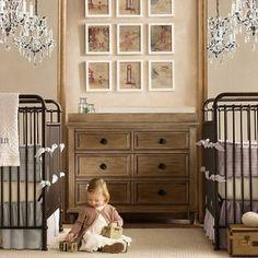 Baby Nursery Room Design Ideas – Twin boy girl baby room
