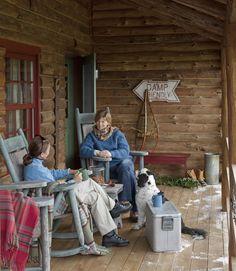 Log Cabin Porch...