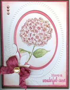 Pink Hydrangea by corysnana1 - Cards and Paper Crafts at Splitcoaststampers
