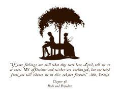 Pride & Prejudice - Jane Austen - I died when Mr. Darcy said that - so romantic!