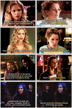 Worlds with/without shrimp #btvs #angel Buffy the Vampire Slayer