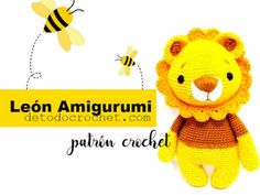 Patrones de León Amigurumi Diy Crochet, Crochet Hats, Poncho, Barbie Dress, Tweety, Lions, Winnie The Pooh, Pikachu, Projects To Try