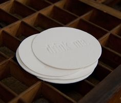 Drink Me Coasters  by Headcase Press