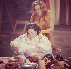 American Horror Story: Freak Show.  Only in the Freak Show would you encourage a really fat chick to make herself even fatter!  I love the mad quirkiness of this series!