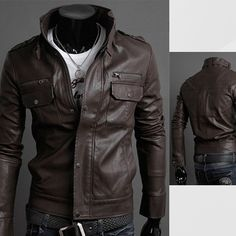 Cheap leather jacket men slim, Buy Quality leather jacket men directly from China leather jackets men style Suppliers: AILOOGE 2017 Classic Style Motorcycling PU Leather Jackets Men Slim Male Motor Jacket Men's Clothes Men's Leather Jacket, Biker Leather, Leather Men, Leather Jackets, Cowhide Leather, Motorcycle Leather, Style Moto, Jacket Style, Moda Rock