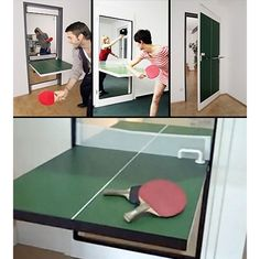 Now THIS is a fold away ping pong table.