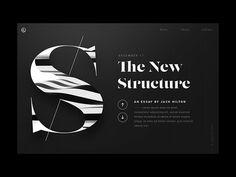The New Structure - Web Design / UI