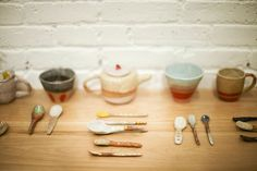 The store is stocked with ceramics from Shino Takeda and Small Spells.