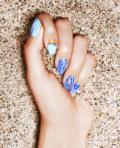 Vacation nails; it's always fun to try something you new when you're traveling.