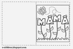 Mothers Day Crafts For Kids, Mothers Day Cards, Happy Mothers Day, Mother Day Gifts, Fathers Day, Craft Activities, Preschool Crafts, 8 Martie, Mom Day