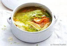 Fenchel-Karottensuppe mit Parmesan