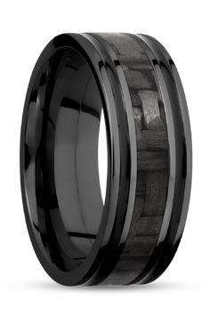 Black Carbon Fiber in Zirconium.